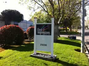 First Impressions street sign for production facility